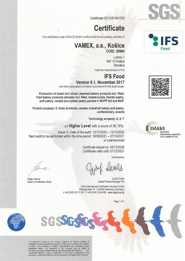 2020 - IFS FOOD - VAMEX